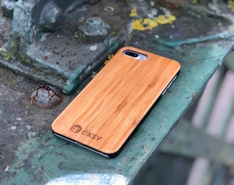 OXSY Bamboo iPhone 7+ Wood Case | iPhone 7 Plus Wood Case | Real Wood | Solid Wood iPhone 7+ cover | Gift Idea | iPhone 7 Plus Cover