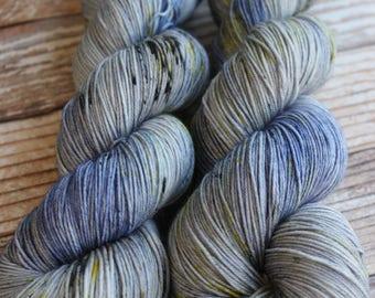Isabel - Dark Knight - Hand Dyed Yarn - 75/25 Superwash Merino/Nylon