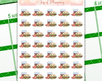 Fast food planner stickers, planning, cute food stickers, food stickers, burger stickers, erin condren, eating, Cute planner stickers