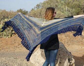 Red shawl / Fishnet Shawl