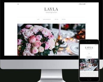 Premade Blogger Template - Responsive Blogger Template - Modern Blogger Template - Minimalist Template - Photography Template - Layla Theme