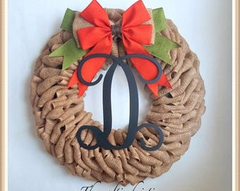 Pumpkin Wreath-Thanksgiving Wreath-Halloween Wreath-Front Door Wreath-Fall Burlap Wreath-Fall Wreath for Front Door-Housewarming Gift