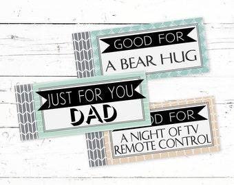 Coupon Book For Dads - Printable Birthday Coupons For Dad - Gift From Kids - Editable Coupon Book - Dad Birthday Gift - Gift Ideas For Dad