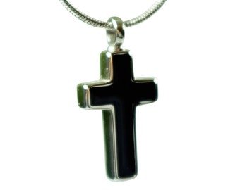 Cross Urn Necklace for Ash |  Memorial Bereavement Religious Cremation Jewelry