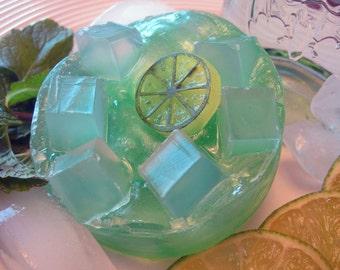 Mojito Soap/Glycerin Soap/Homemade Soap/Natural Soap/Round Soap/Bath Soap//Bar Soap/Vegan Soap/Spa Soap