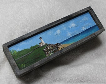 Lighthouse,LighthouseGiftBox,WoodenBox,PencilBox,LighthouseStorage,JewelryBox,TreasureBox,BeachWedding,Shoreline,MadeInUSA,FREE SHIPPING