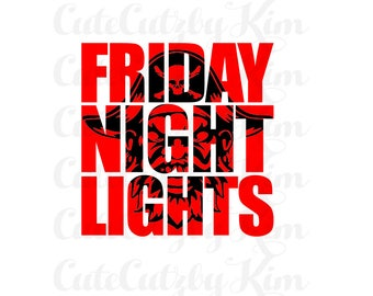 Football svg, friday night lights, pirate, cutecutzbykim