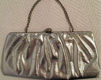 Vintage 1960s Silver Evening Bag
