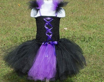 Purple Witch Halloween inspired Costume Tutu Girl Skirt Boutique Bows Clothing Baby Toddler