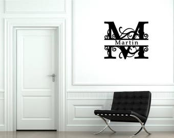 """Custom Family Letter Monogram Vinyl Decal~ Can be used inside/outside 7""""x 3"""" through 22"""" x 10"""", you choose size & color!"""