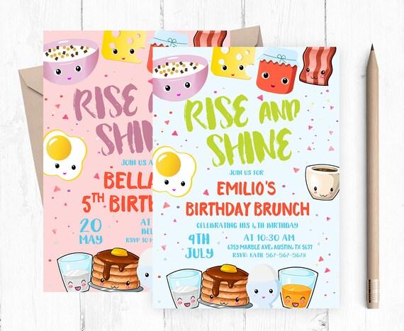 Frühstück Einladung, Geburtstag Brunch Einladung, Kinder Frühstück  Einladungen, Kinder Brunch Einladungen, Kind Frühstück Lädt Ein,