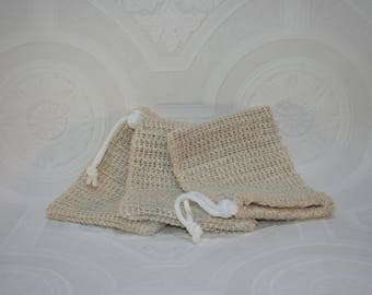 Natural Sisal Soap Pouch - soap saver