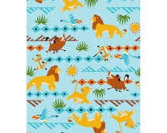 "Lion King Tribal stripe by Springs Creative - by the half yard - 43-44"" wide, 100% cotton - cartoon fabric - character fabric"