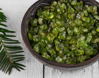 10g Lot PERIDOT Tumbled Stones - Peridot Crystal, Green Peridot Stone, Natural Peridot Stone, Tumbled Gemstone, Natural Gemstone Chips E0739