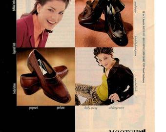 1997 Mootsies Tootsies Shoe company vintage magazine ad wall decor 1706