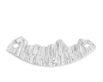 Connector mountain in silvered Metal 3.9 cm
