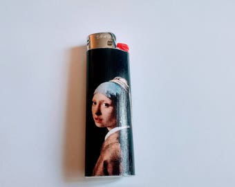 Girl with a Pearl Earring by Johannes Vermeer - Custom Lighter