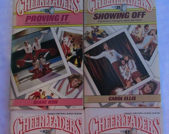 Vintage 1980's Cheerleaders Series Books / #18, #23, #31, #33, #42