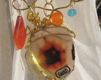Honey Agate - Faith - Sun catcher #71