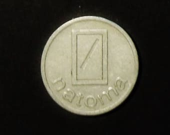 Swiss chip for Natoma coin operated machines in Switzerland - jeton coin vintage token - vintage collectible Swiss item