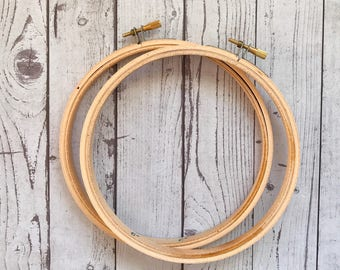 17.5cm Wood Embroidery Hoop - 7 Inch Hoop, Cross Stitch Supplies, Embroidery Accessories, Birch Round Wooden Hoops, Needle Craft, Woodcrafts