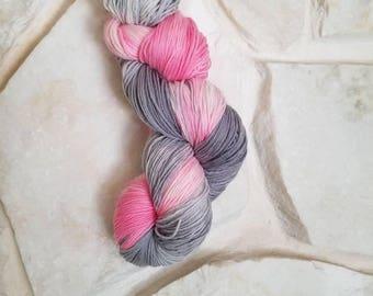 Ballerina Grey Hand Painted Sock Yarn