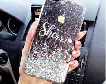 Diamond Dust Phone case iPhone 7 case iPhone 7 Plus case iPhone 6S case iPhone X case iPhone 8 case iPhone 8 Plus case iPhone 6s plus case