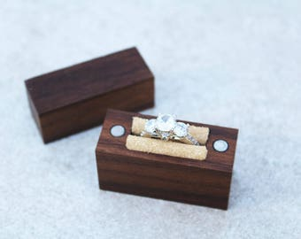Engagement Ring Box // Wood Ring Box // Handcrafted Ring Box // Slim Engagement Ring Box // Ring Box // Engagement Box //