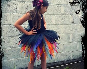 Rock Star Dress - Rockstar Tutu Dress - Black Dress - Multicolor Tutu - Party Dress - Princess Dress - Birthday Outfit - Rockstar Outfit