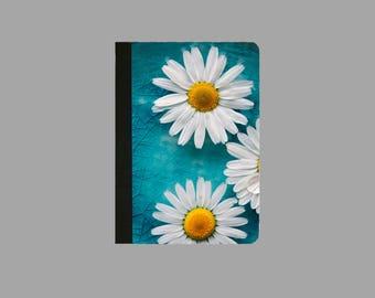 IPad Mini 1/2/3/4 Faux Leather Folio Case / Cover IPAD Mini 2 Case IPad Mini 3 case Mini 4 Case WHITE DAISIES Case