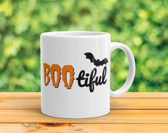 Bootiful - Funny Halloween Coffee / Tea Mug
