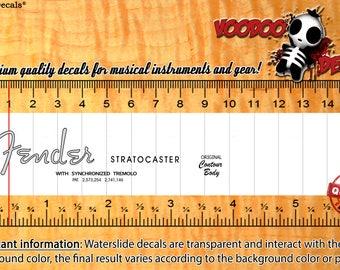Fender Stratocaster guitar Headstock Waterslide Decals