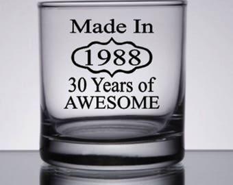 30th Birthday For Him, 30th Birthday for Her, 30th Birthday Gift, Dirty 30 Gift, Made in 1987, 30th Birthday Gift Ideas, Men's Dirty 30