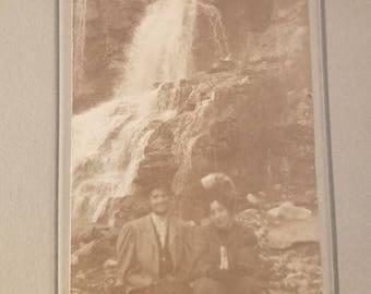 Vintage Waterfall Photograph