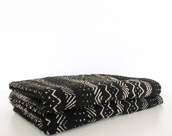 XXL Mudcloth bedcover | Mud Black mudcloth duvet cover | Mudcloth comforter | African mudcloth bedspread | Mud cloth fabric