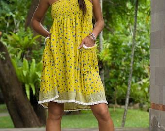 Edi Skirt-Dress, Skirt Dress Combo, Versatile Skirt, Boho Skirt, 104-112