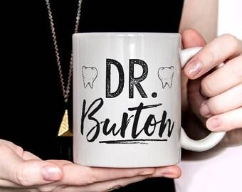 Personalized Custom Dentist Mug, personalized dentist with name, dentist gift, new dental graduate (M803)
