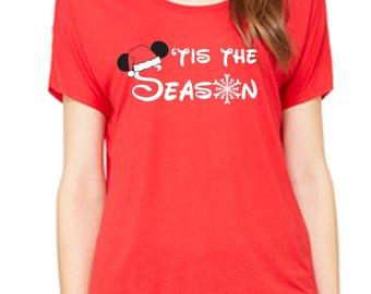 Disney Christmas Shirt Disney Shirts Christmas Disney Shirts 'Tis the Season Disney Cruise Shirt Disneyland Shirt Disney World Shirt