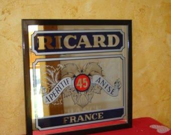 Miroir Ricard. Apéritif signboard for your bar. Vintage. France