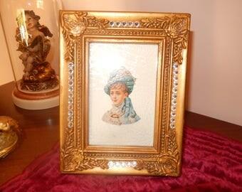 vintage style antique gold photo frame