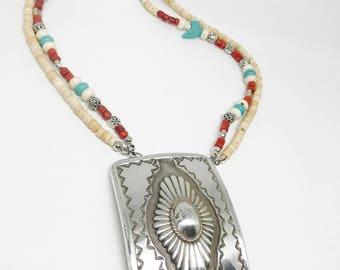 Western Jewelry, Western Necklace, Vintage Jewelry, Vintage Necklace, Re-Purposed Jewelry,