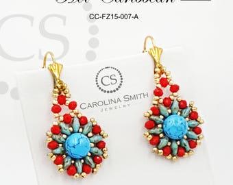 Hot Caribbean Earring by Carolina Smith Jewelry