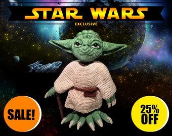 Star Wars Crochet Jedi Master Yoda 13″ / Fan & Collectors / Exclusive / BIG SALE