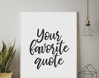Superbe PERSONALIZED PRINTS, Custom Quote, Custom Wall Art, Custom Poster,  Minimalist Wall Art