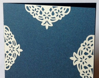 Share lace blue and gray