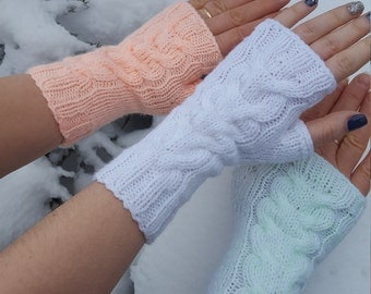 Sale! Pay two pairs of mittens - take three, gloves - three pairs for the price of two, handmade, fingerless, accessories, winter fashion