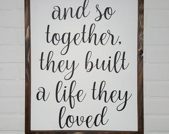 455+ And Together They Built A Life They Loved Svg for DIY T-shirt, Mug, Decoration and more