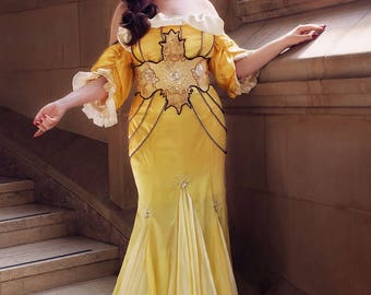 Belle Cosplay - Hannah Alexander Art Nouveau - Ballgown - Beauty and the Beast - Swarovski crystals