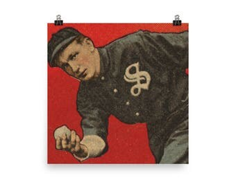 Old Vitage Baseball Card Photo paper poster