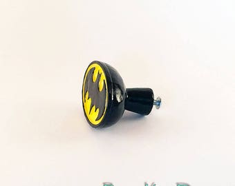 Batman Pull Knob Superhero Room Decor Drawer Pull Justice League DC Comics Superhero  Furniture Home Decor